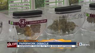 Paperwork snag closes Las Vegas pot dispensary