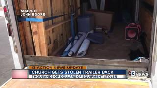 UPDATE: Church finds stolen trailer