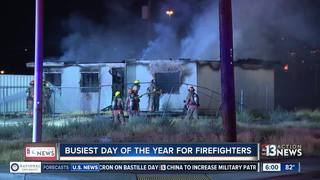 More calls for fire departments on holiday