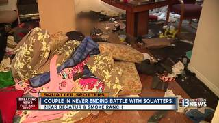 Couple in never-ending battle with squatters