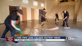 Planet Hollywood casino floods after pipe leak