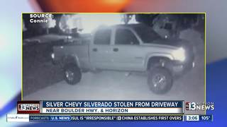 CAUGHT ON CAMERA: Truck stolen from driveway