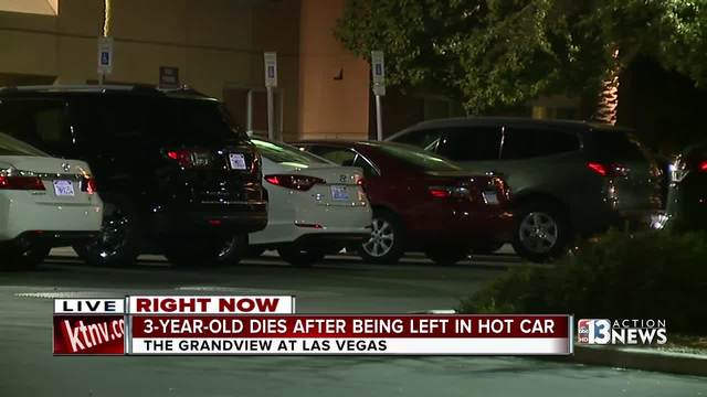 3-year-old from Fillmore dies in hot vehicle in Las Vegas