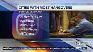 Las Vegas ranks high on hangover list