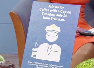 McDonald's, police host 'Coffee with a Cop'