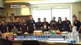 Marvel Avengers surprise nurses, firemen
