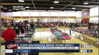 3,000 backpacks being given away