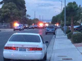 Vegas police shoot 2 people on Goldfield