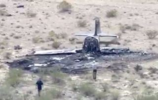 Plane crashes, bursts into flames near Henderson