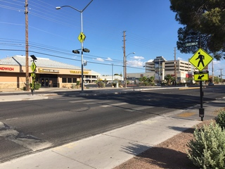 Broken crosswalk near UNLV could be problem