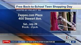 Free back-to-school shopping day for teens