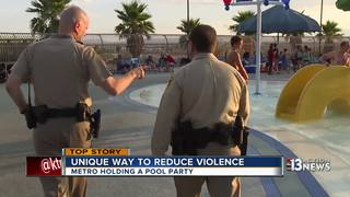Las Vegas police hold party to ease tensions