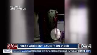 VIDEO: Teen falls from tall indoor climbing wall