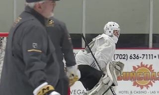 Golden Knights lay ice at practice facility