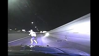 Troopers save woman that runs into traffic