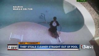 Thief steals expensive pool cleaning equipment