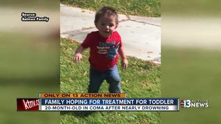 Family of toddler in near-drowning needs help