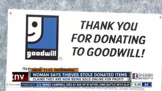 Goodwill items are being stolen, sold online