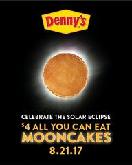 Denny's offering 'mooncakes' during eclipse