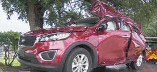 Grill explodes inside SUV in Florida