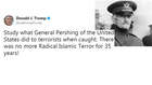 President Trump called out for Pershing tweet
