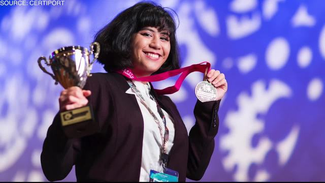 Las Vegas teen says winning international graphic design competition gives her head start in career