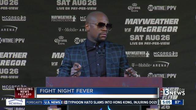 Mayweather vs- McGregor press conference before fight