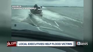 Las Vegas execs pitch in to help flood victims