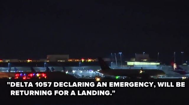 Delta Air Lines Flight Makes Emergency Landing After Engine Catches Fire