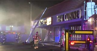 Regan Lounge destroyed by fire