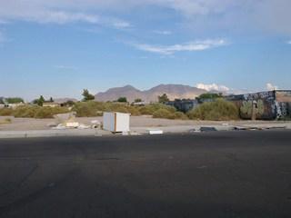 Field in northeast Las Vegas covered in trash