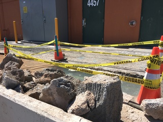 Second water leak pops up in Vegas intersection