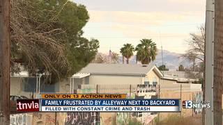 Family fed up with crime, graffiti near backyard