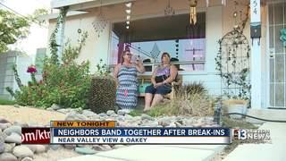 Neighbors stand up against burglars