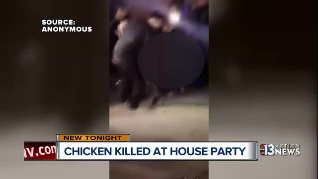 Video shows guy killing chicken at Vegas party