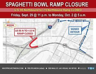 Spaghetti Bowl Ramp Closure This Weekend