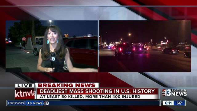 Las Vegans wait for hours to donate blood after concert massacre