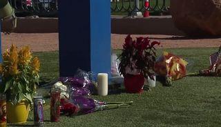 Memorials for shooting victims along Vegas Strip