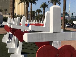 PHOTOS: 58 white crosses honors victims