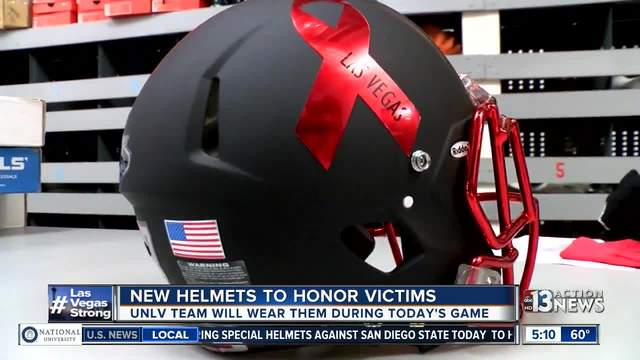 UNLV helmets remember Las Vegas shooting victims, honor the heroes