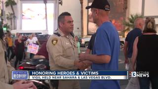 Vegas community comes together one week later