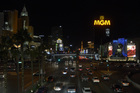 Las Vegas dims lights as tribute to victims