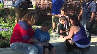 Volunteers build memorial park to honor victims