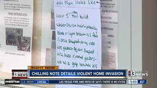 Chilling note warns others of robbery at complex