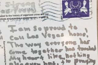 Letters pour in showing support for Las Vegas