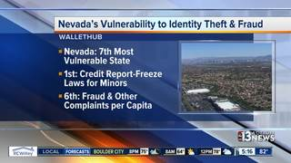 NV is 7th most vulnerable for identity theft
