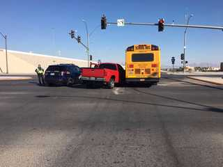 2 school buses involved in separate crashes