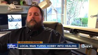 Disabled man hopes hobby helps with healing