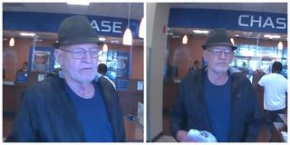 Police release photos of elderly bank robber