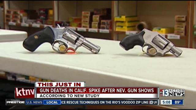 Gun deaths in California spike after Nevada gun shows